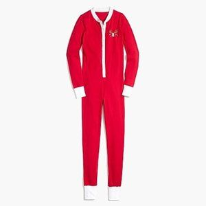 J. CREW Women Printed Holiday Reindeer Onesie | XS